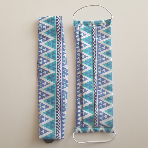 Mask + Headband - Turquoise
