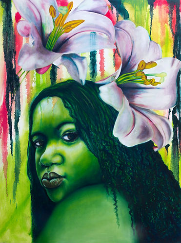 """""""Green Lilly"""" portrait by Alillia"""