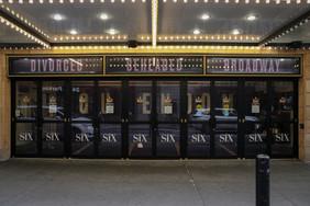 Box Office Doors with Glass Door Decal and Above Door Cases
