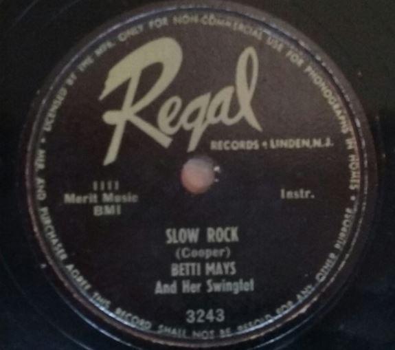 Betti Mays Slow Rock Label
