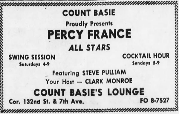 Percy France at Count Basie's