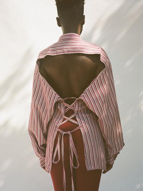 Burgundy Multi Backless Shirt