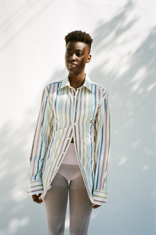 Pastel Multi Backless Shirt