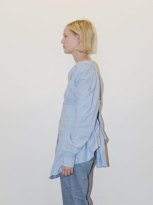 Light Blue Cotton Twin Shirt Side View