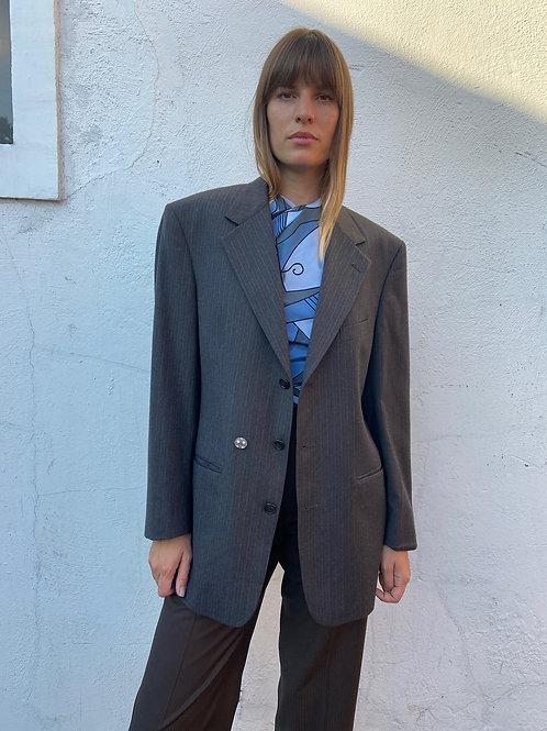 Grey pin-striped Suit Jacket