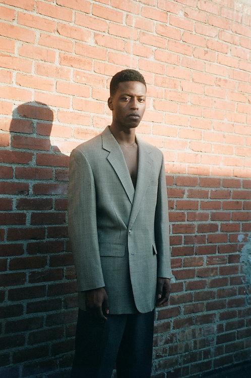 Gingham Suit Jacket