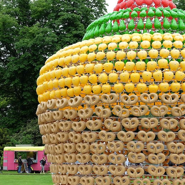 We crashed into the giant pretzel cupcake _waddesdonmanor_nt
