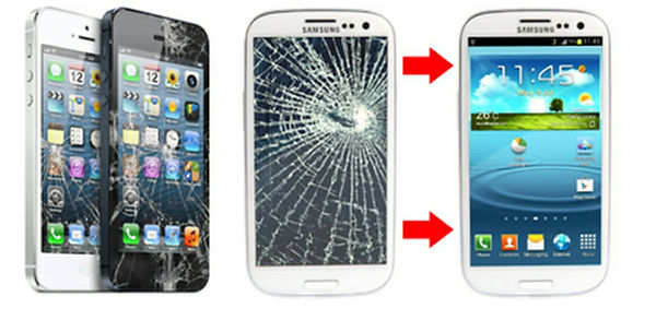 broken phone screens