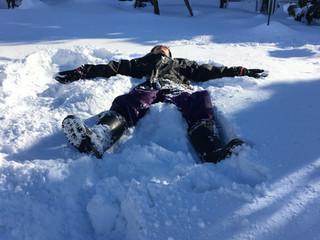 雪遊びと陶板浴