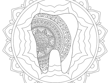 Dental Colouring Pages