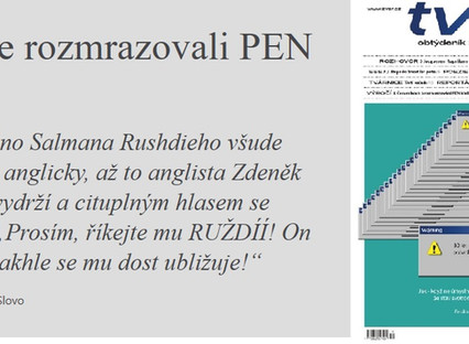 Vzpomínka Jany Červenkové Jak jsme rozmrazovali PEN klub