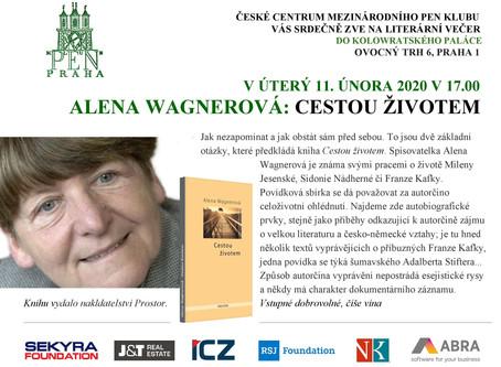 Alena Wagnerová představí svou novou knihu Cestou životem  (11. 2. od 17 hodin v Kolowratském paláci