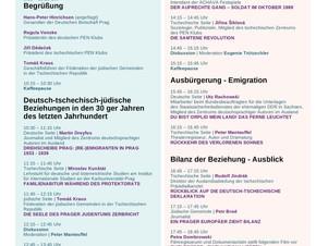 Konferenz Deutsch-Tschechisch-Jüdische Beziehungen 1938–2020