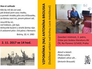 Pozvánka: Vzpomínka na Antonína Brouska