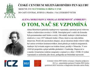 Pozvánka na literární večer s překladatelkou Alenou Morávkovou