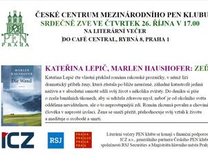 Pozvánka na setkání se spisovatelkou a překladatelkou Kateřinou Lepič