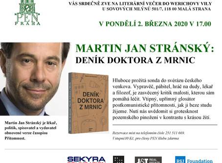 Martin J. Stránský představí ve Werichově vile svůj Deník doktora z Mrnic