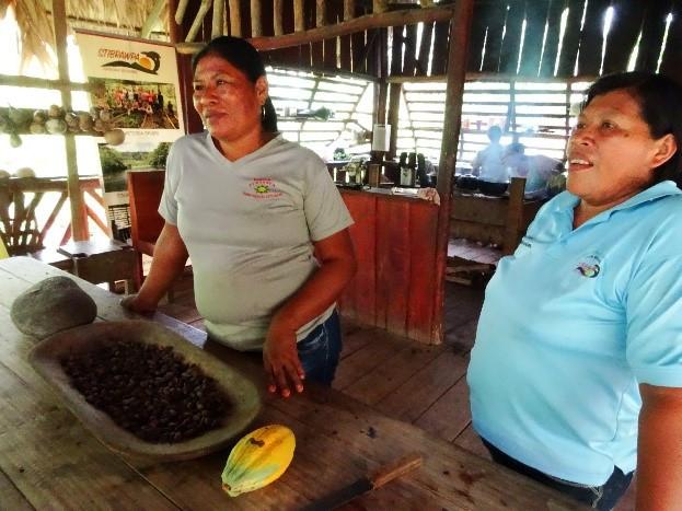 Bri-Bri ladies making chocolate Costa Rica Travels Eco tourism