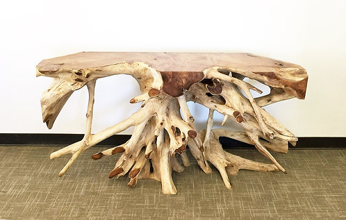CRW030,Bar/Console Table,Teak Wood Root