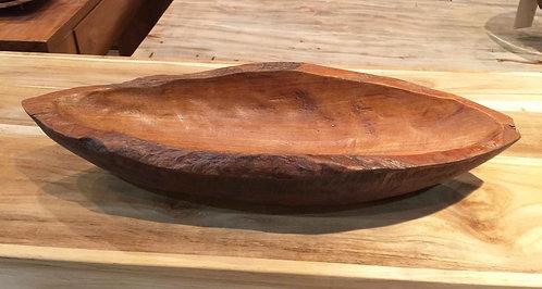 BWO004 , Oval bowl teak wood