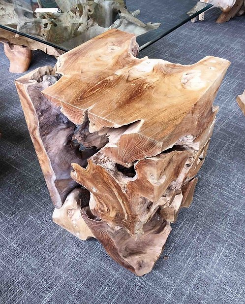 ET021 ,Organic  End table , Teak Root