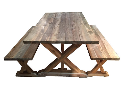 DT011, Dining table reclaimed teak wood