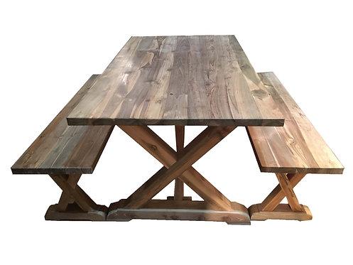 DT011, Dining table reclaimed teak wood