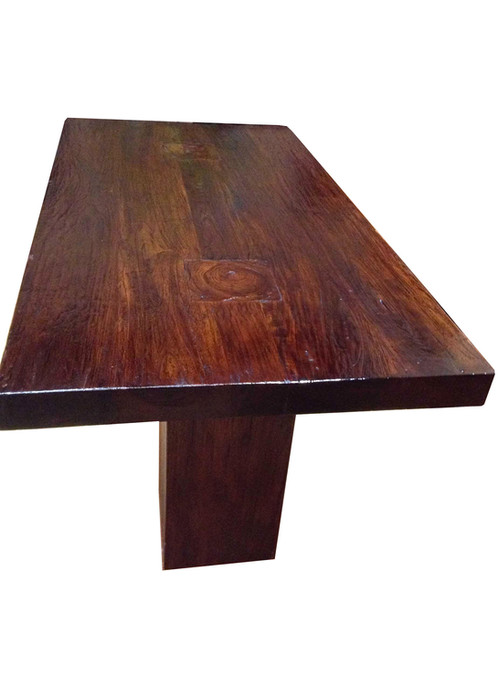 DT001, Dark Walnut Dining Table Teak Wood
