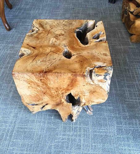ET008, End Table, Teak Root Wood