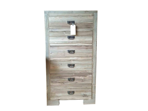 TWC012 , 6 Drawers Cabinet Reclaimed teak wood.