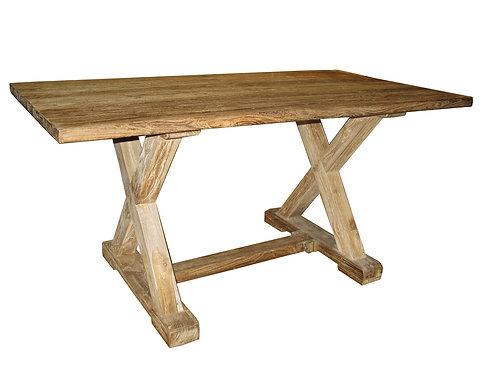 DT007 , Rustic Dining Table Teak Wood