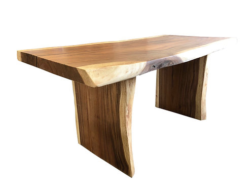 DINING TABLE LIVE EDGE,SUAR WOOD, MONKEY POD.