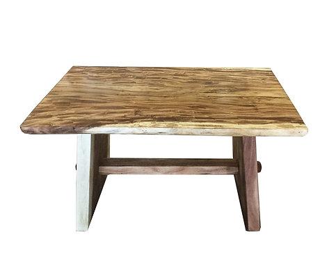 DINING/DESK TABLE LIVE EDGE,SUAR WOOD, MONKEY POD.