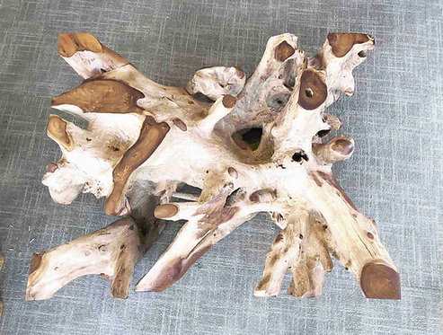 "40 "" Exotic Contemporary Rectangle Coffee Table Teak Root (CTR64)"