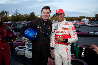 Simon Ward and Lewis Hamilton