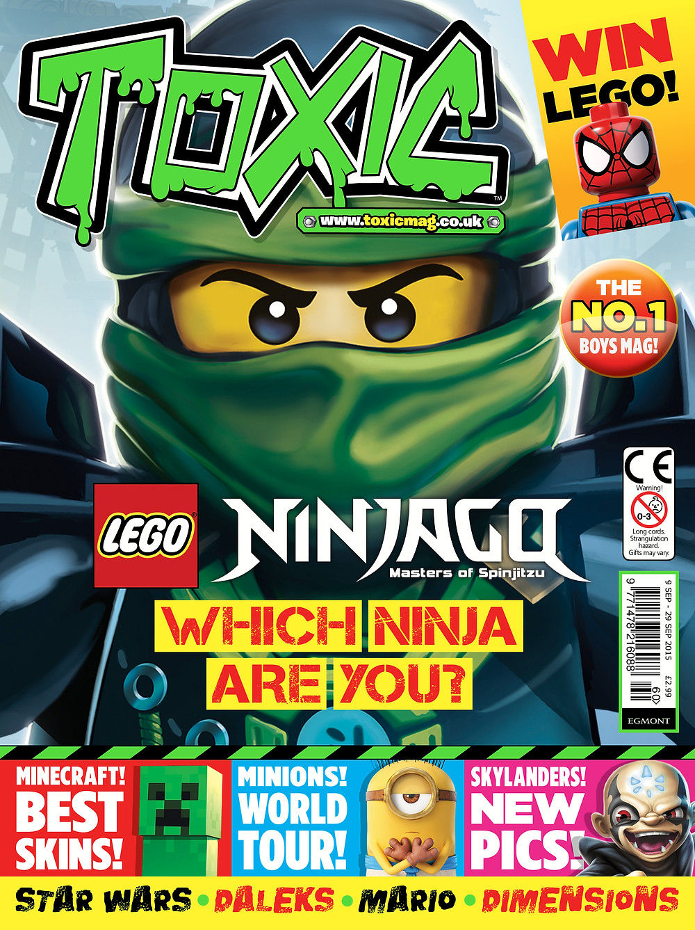Toxic Magazine cover issue 260
