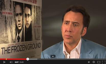 Simon Ward interviewing Nicolas Cage