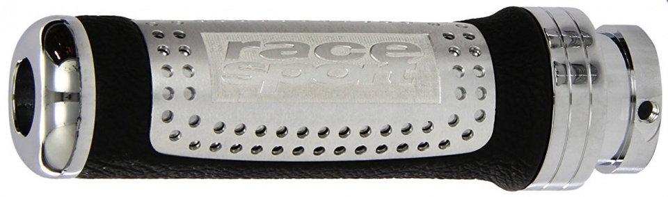 handremgreep universeel 12,5 cm aluminum/leer zwart