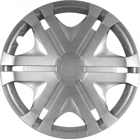 wieldoppen Vision 14 inch ABS zilver set van 4