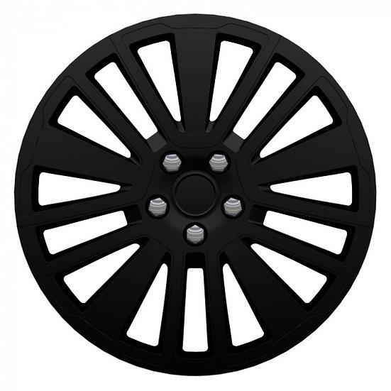 wieldoppen Scuba 14 inch ABS zwart set van 4