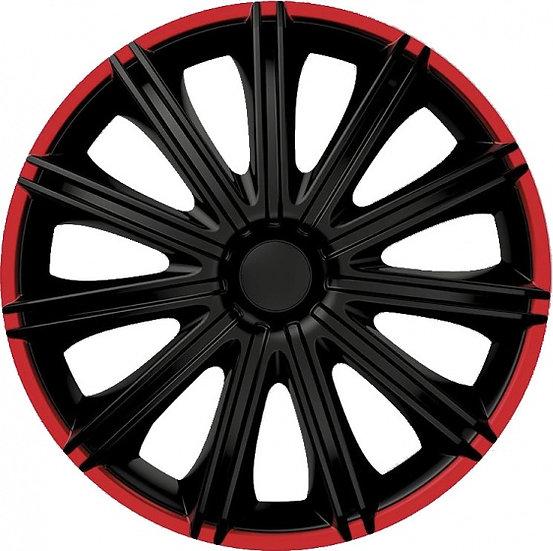 wieldoppen Nero 15 inch ABS zwart/rood set van 4