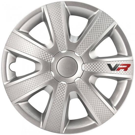 wieldoppen VR 13 inch ABS zilver set van 4