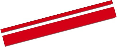 sticker AutoStripe Cool350 3+2 mm 975 cm rood