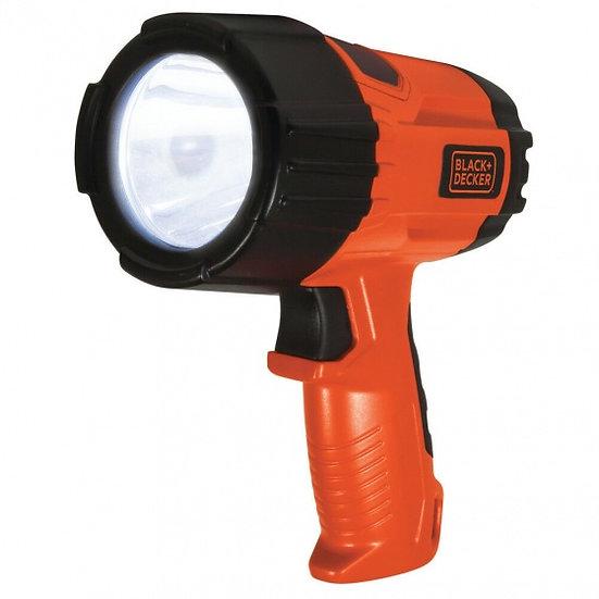 zaklamp led 3 Watt 375 lumen zwart/oranje