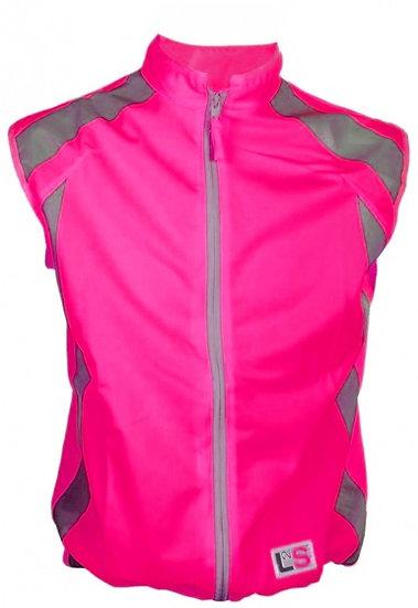 veiligheidshesje VisioPlus dames roze maat XS