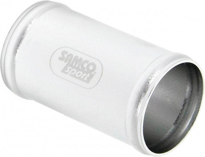 aluminium koppelstuk Ø57 mm 80 mm zilver