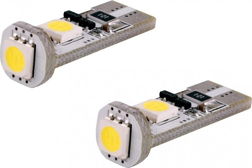 autolampen T10 SMD led storingsvrij 12 V 5 W wit 2 st