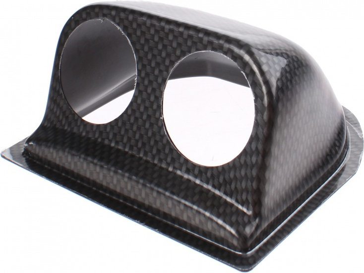meterhouder dashboard uni 52 mm 2 meters ABS carbon-look