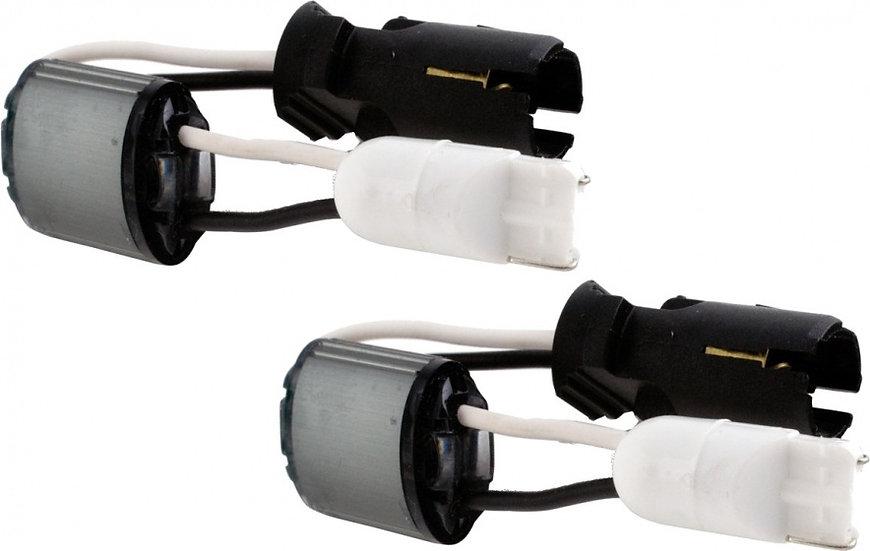 ontstoringskabel voor T10 fitting 2 stuks zwart/wit