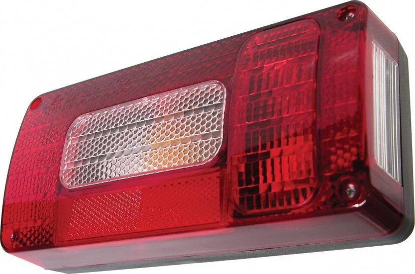 achterlicht 12 Volt met 5 functies 220 x 100 mm links